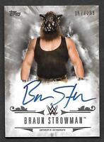 2016 Topps WWE Undisputed AUTOGRAPH UA-BS Braun Strowman AUTO 157/299