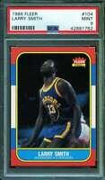 Larry Smith Card 1986-87 Fleer #104 PSA 9