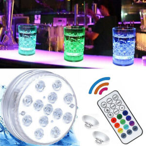 13 LED Submersible Light Waterproof Hot Tub Underwater Lights Swimming Pool Pond