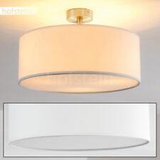 Plafonnier Luminaire Lampe suspension blanche Lustre Lampe de séjour Métal/Tissu