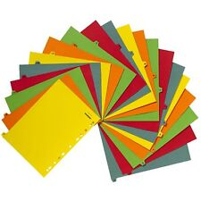 A-Z Subject Filing File Dividers A4 Multi Punched Coloured 20 A TO Z alphabetics