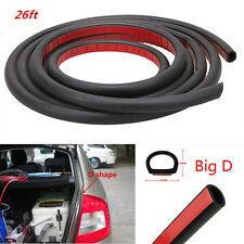 Car Pillar Door Edge Seal Weather-strirp 8M D-Shape Moulding Trim Rubber Strip