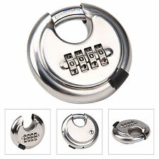 4 Digit Combination 70mm Disc Lock Padlock - Hardened Stainless Steel