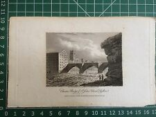 1810 Print  Old Dee Bridge and St John's Church, Chester,  Cheshire