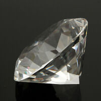 80mm Clear Crystal Diamond Shaped Paperweight Glass Gem Display Ornament   !