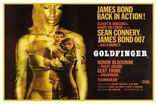 "JAMES BOND - GOLDFINGER LONG VERSION - MOVIE POSTER 18"" X 12"" SEAN CONNERY"