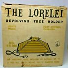 Vintage Lorelei Revolving Tree Holder Musical Christmas Stand. With Box. Tested.