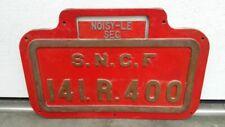 Original Lokschild aus Messingguss, S.N.C.F 141. R. 400, Alco USA