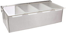Condiment Dispenser Quart Compartment Chilled Server Bar Fruit Caddy Food Tray 4