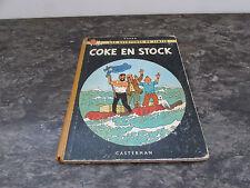 herge les aventures de tintin coke en stock casterman eo 1958