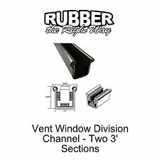 """Universal Window Channels - Rigid - 1/2"""" Wide by 35/64"""" Tall - w/ Stainlss Bead"""