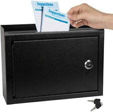 Kyodoled Suggestion Box wigh Lock,Locking Mailbox, Key Drop Box, Wall Mounted Ma