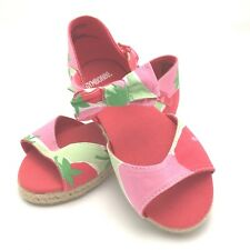GYMBOREE KIDS CHILDRENS GIRLS STRAWBERRY BOW SANDALS SHOES SIZE 8 NEW ADORABLE