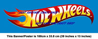 Hot Wheels Giant Size Poster Banner Streamer Shop Sign - Very High Quality