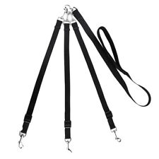 Multiple 3 Way Triple Coupler Dog Leash Long Pet Rope Walk Lead 3 Dogs DS