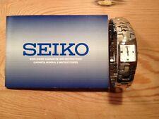 Neu - Uhr Uhren Montre Seiko - Lady White Zifferblatt - Quarz - Stahl - New