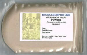 Dandelion Root Powder Certified Organic 200g (Taraxacum officinale) Free Post