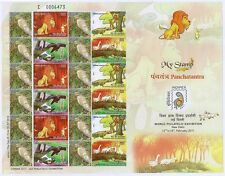 India 2011 personalized stamps My Stamp Chinar Panchtantra + Keoladeo Bird MNH