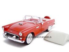 1956 FORD THUNDERBIRD RED 1:24 DIECAST MODEL CAR BY UNIQUE REPLICAS 18505