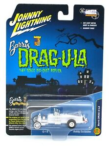 Johnny WHITE LIGHTNING *THE MUNSTERS* Barris DRAG-U-LA Coffin Car NIP