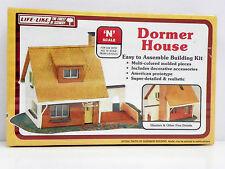 """LIFE-LIKE N SCALE U/A """"DORMER HOUSE"""" PLASTIC MODEL KIT #7413"""