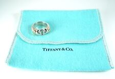 Tiffany & Co. 18k Sterling Silver CIRCLE Ring * Size 5 1/2 * Tiffany Pouch