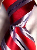 Men's Pronto Uomo Red Silk Striped Tie A27826