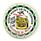 500 Made  ~ DON'T PAINT US IN A CORNER/ G  W. BUSH IN '04 ~ 2004 Campaign Button