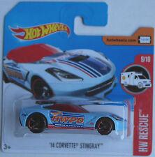 """Hot wheels -'14/2014 Chevy Corvette stingray Bleu Clair """"hwpd"""" Nouveau/OVP"""