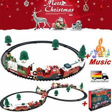 DE Weihnachtszug Set Kinder Weihnachten Geschenk Spielzeug Musik Licht Eisenbahn