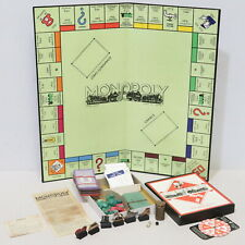 Vintage Monopoly 1940s Wartime Set Wooden Cardboard Pieces Boxed - 254