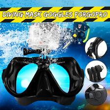 Snorkeling Mask Goggles Scuba Dive Face Camera Mount Swimming Glasses ^