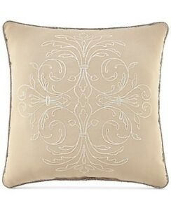 "ONE Croscill LORRAINE 18"" Square PILLOW DECORATIVE  Bedding Throw  NEW (HAVE 2)"