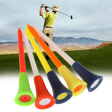 Lot 20pcs Plastic & Rubber Cushion Top Golf Tees Golf Tool 83mm One Color