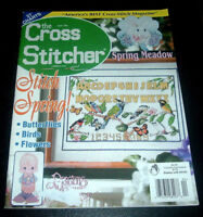 The Cross Stitcher Magazine April 2001 ~ Easter Egg Ornaments ~ Garden Sampler +