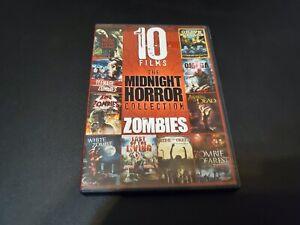 10 Películas The Midnight Terror Colección Zombis DVD LN Estado