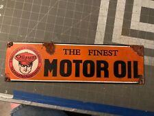 Antique style-porcelain look Oilzum finest motor oil dealer sales sign very nice