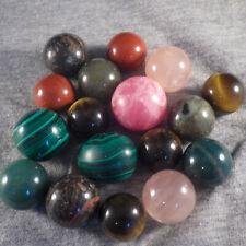 "BB Marbles: 17 Mineral Spheres. 23/32""-15/16"". Mint.  (B324)"