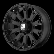17 Inch Black Wheel Rims 5 Lug Jeep Wrangler JK XD Series Misfit XD800 Set of 4
