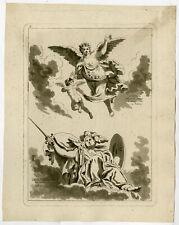 Antique Master Print-ART HISTORY-ROME-Fragonard-Saint Non-1771