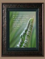 Bible Scripture Picture (8X10) Ezeikiel 31:4 New Fine Art Print Faith Jesus God