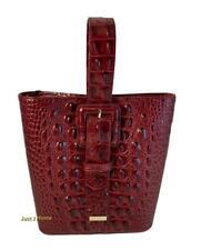 Brahmin Faith Cranberry Melbourne Handbag Leather Sunburst S14 151 00274