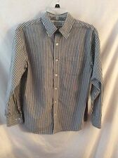 Arizona Boy's Long Sleeve Shirt ~ XL ~ Gray/White Stripes ~ Nice