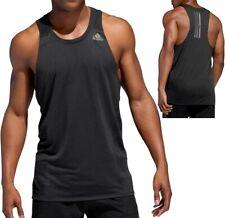 Adidas Singlet Men's Sport Tank Top Running Shirt Sleeveless Gym Black