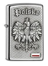 ZIPPO Benzin Feuerzeug Emblem mit Aufschrift Polska Polen 2005157 NEU