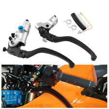 "2pcs 7/8""CNC Motorcycle scooter Hydraulic Brake Clutch Pump Master Cylinder Kit"