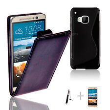 BLACK FLIP 4in1 Accessory Bundle Kit S TPU Case Cover For HTC ONE M9