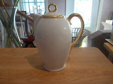 THOMAS SEVRES Bavaria Chocolate Pot - White w/Gold