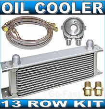 OIL COOLER KIT - 13 ROW OIL COOLER KIT + BRAIDED STAINLESS STEEL HOSES & ADAPTOR
