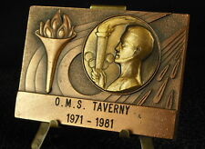 Médaille plaque jeux olympiques olympics games  la flamme et les anneaux Medal